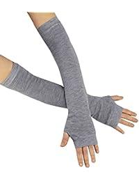 caripe 1 Paar Damen fingerlose Handschuhe Handstulpen Strick Armstulpen - 11
