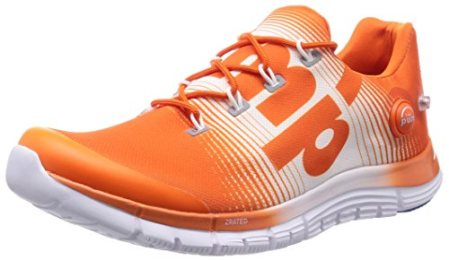 Reebok m49952 Men S Zpump Fusion Orange White And Blue Mesh Running Shoes 9  Uk- Price in India a2be128ab