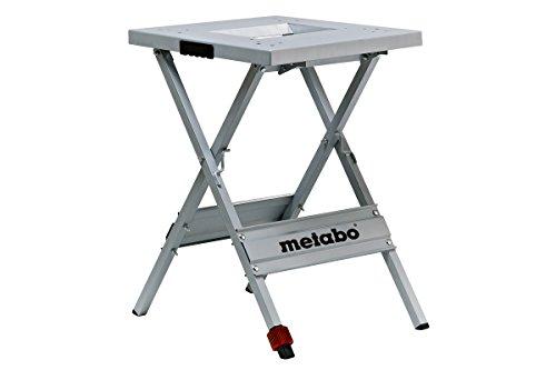 Metabo Maschinenständer UMS / 83 cm hoch, einklappbar & verstellbares 4. Bein für eine optimale Arbeitshöhe / Auflagefläche von 57x60 cm (Werkbank Tisch)