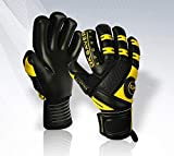 GK Saver Negative Cut Passion Black model Black Football Goalkeeper Gloves (NF/NP, 10)