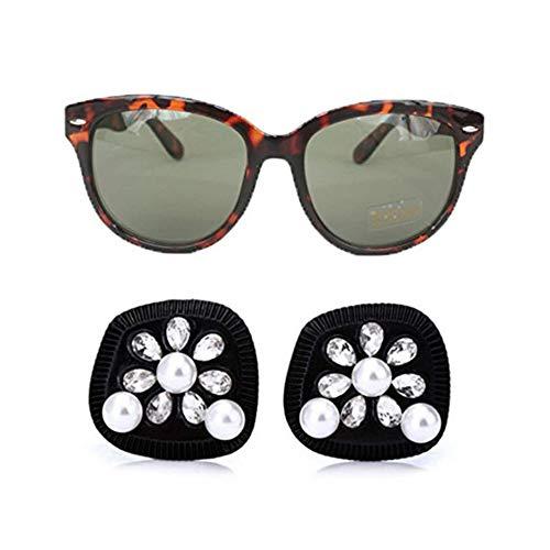 Utopiat iconici orecchini di perle nere e occhiali da sole polarizzati con occhi di gatto set donna ispirata allo stile audrey hepburn