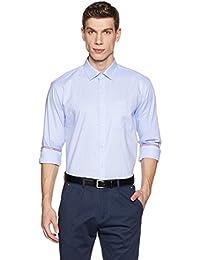 Amazon Brand - Symbol Men's Formal Premium Dobby Regular Fit Shirt