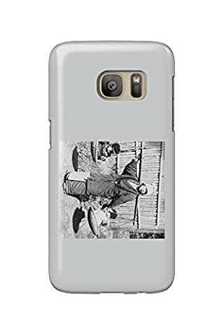 Japanese Woman with Children on a Yoke Photograph (Galaxy S7 Cell Phone Case, Slim Barely There)