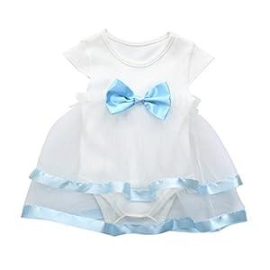 K-youth Vestido para Niñas, 2018 Ropa Bebe Niña Recien Nacida Vestido Bebe Chica Bowknot Florales Vestidos de Fiesta Princesa Tutú para 0-24 Meses 9