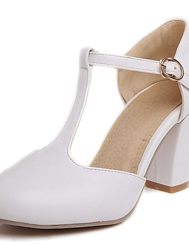 WSS 2016 Chaussures Femme-Habillé / Décontracté / Soirée & Evénement-Vert / Rose / Blanc / Pêche-Gros Talon-Talons / Salomé / Bout Arrondi- pink-us9 / eu40 / uk7 / cn41
