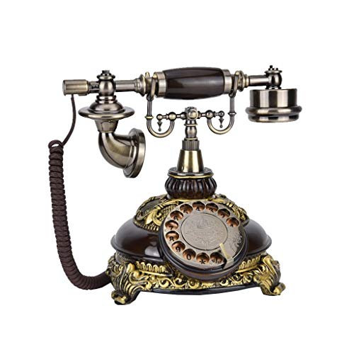 BAIF Health UK Telefon - Telefon American Vintage 1970er Jahre inspiriert Retro Harz Festnetz-Schnurgebundenes Telefon mit klassischer Metallglocke Ringer Willkommen