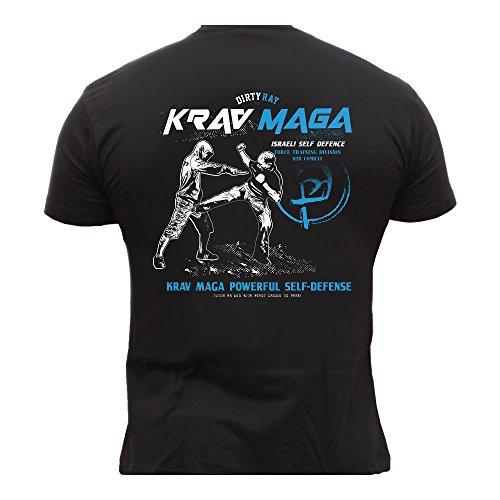 Dirty Ray Kampfsport Krav Maga Herren Kurzarm T-Shirt DT24 (L) (Maga Krav Herren T-shirt)