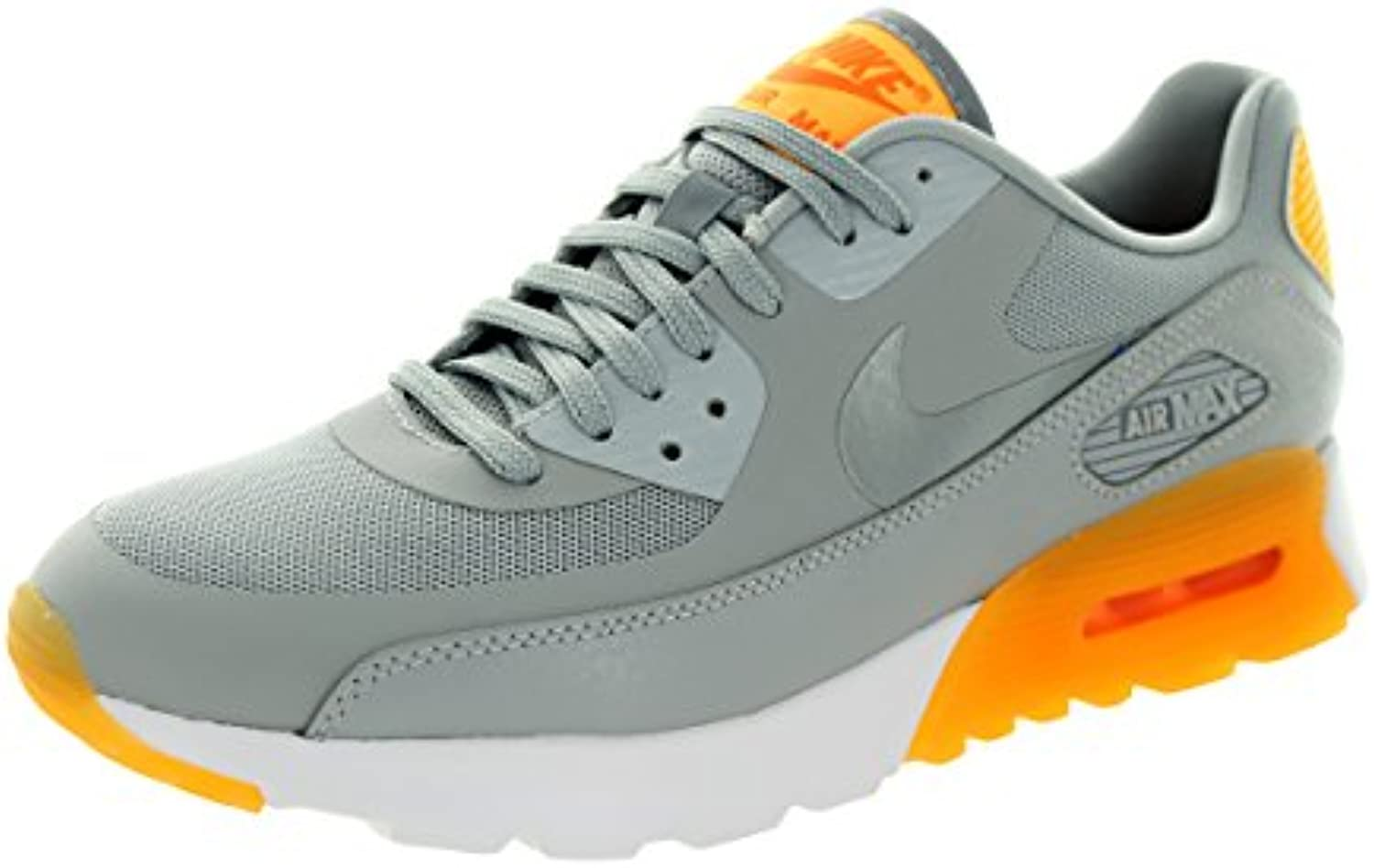 Nike mujer's Air Max 90 Ultra Essential Wlf Gry/Cl Gry/Lsr Orng/Ttl Or Running zapatos 7.5 mujer US