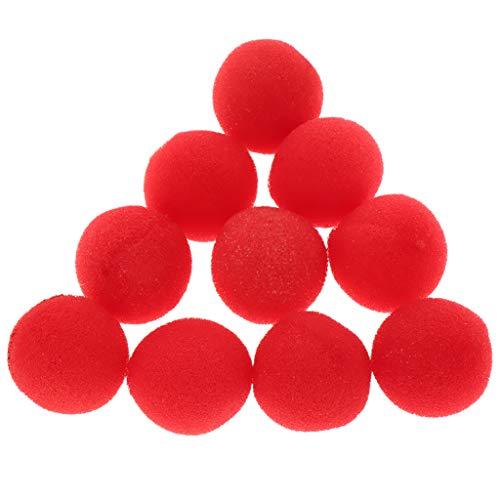 FLAMEER 10er-Pack Rote Schwamm Ball Schwammbälle Supersoft Zaubertricks Spielzeug - 25 mm