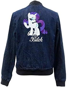 Classy Bitch Pony Bomber Chaqueta Girls Jeans Certified Freak