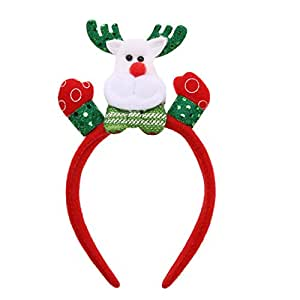 Rrimin Cartoon Christmas Headband Fashion Hair Band Performance Accessories