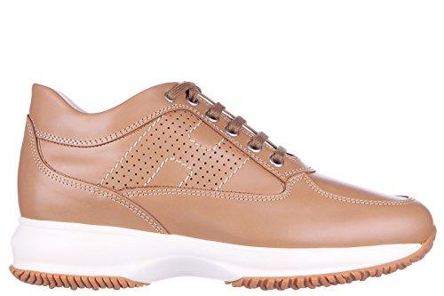 Hogan scarpe sneakers donna in pelle nuove interactive h bucata