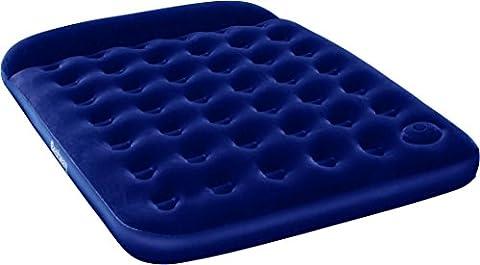 Bestway Lit Easy Inflate Matelas gonflable Pompe à pied intégrée Taille unique, Luftbett Comfort Quest Easy Inflate Queen Size mit Eingebauter Fußpumpe, 20 x 15 x 22 cm