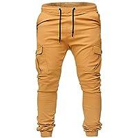 Kinlene Pantalones de chándal para Hombres Pantalones Casual Elásticos Pantalones Deportivos Bolsos Holgados Holgados Pantalones