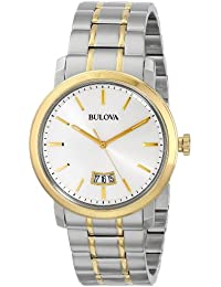 Bulova Classic Analog Grey Dial Men's Watch - 98B214