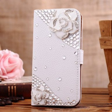 C-GUESS Samsung Galaxy Ace 2 I8160 Jewelry Bling Diamond Gem Leather Smart Case Cover