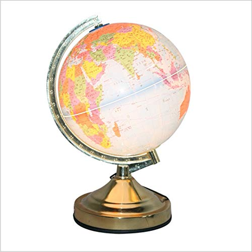 HCJ Durchmesser: 220 mm Höhe: 320 mm 13-Zoll-Globe-Touch-Lampe mit Glühlampe (Farbe : Gold) -