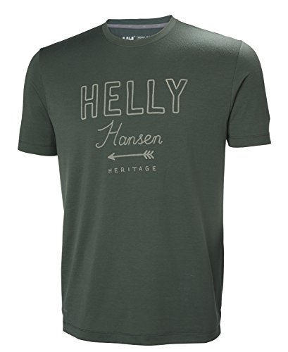 Helly Hansen Rune Ss Tee, Camicia Sportiva Uomo Jungle Green
