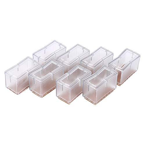 Asixx Stuhlbein Kappen, 8pcs Fusskappen Fußboden Stuhlbein Schutz aus PVC-Material Anti-Rutsch, 2,4...