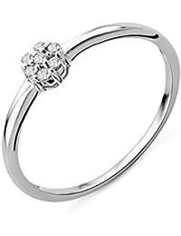 Miore Damen-Ring mit Brillanten 9 Karat 375 Weißgold MG9141R