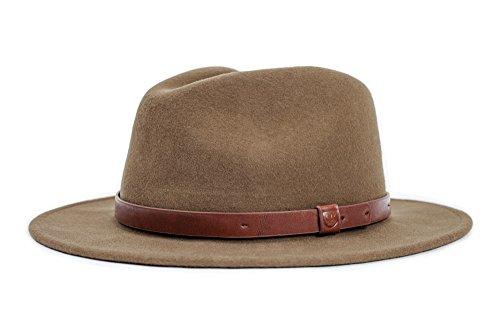 Brixton Herren Messer Hat, Light Olive, M (Hut Herren Krempe Breite Wolle)