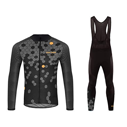 Uglyfrog Bike Wear Radtrikot Fahrradbekleidung Set Langarm Atmungsaktiv Herren mit 3D Lange Hosen Anzüge Herbst Style