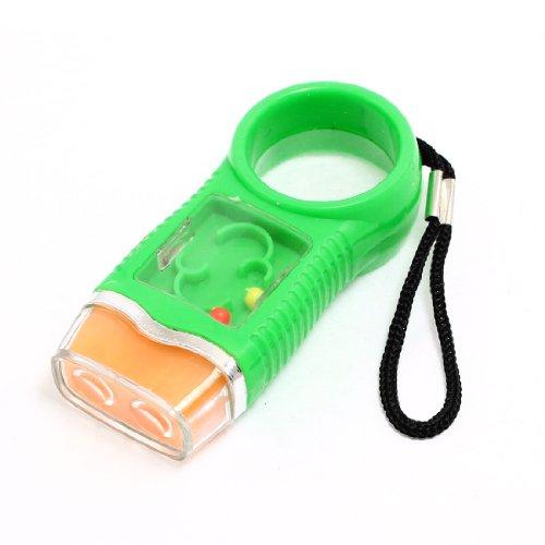 sourcingmap® Schiebeknopf Grün Kunststoff Taschenlampe weiß Licht Zwei LED Schlüsselanhänger