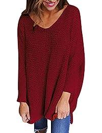 b895d24ebf Amazon.it: maglione scollo a v - Rosso / Donna: Abbigliamento