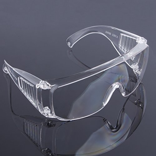 Jiamins Schutzbrille Brille Arbeit Dental Eye Schutzbrille Brillen (Transparentes Weiß)