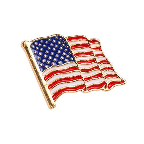 TENDYCOCO USA Flagge Brosche Anstecknadel Kostüm Amerikanische Flagge Dekoration Abzeichen Pin