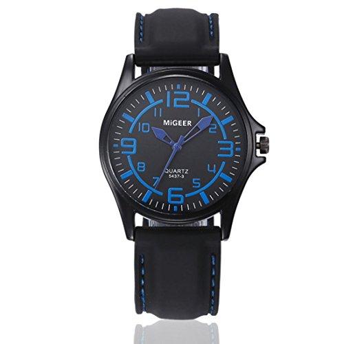Preisvergleich Produktbild Dragon868 Sportuhr Armbanduhr Silikon Sport Watch Damen Herren Kinder Cool Analog Quarz Uhr (blau)