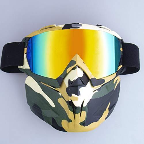 KNOSSOS Máscara de Motocicleta para Campo a través Gafas para Parabrisas Gafas...