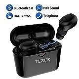 Die besten Drahtlose Bluetooth Earbuds - TEZER Mini Headset V5.0 Bluetooth Kopfhörer,Stereo Bluetooth Ohrhörer Bewertungen