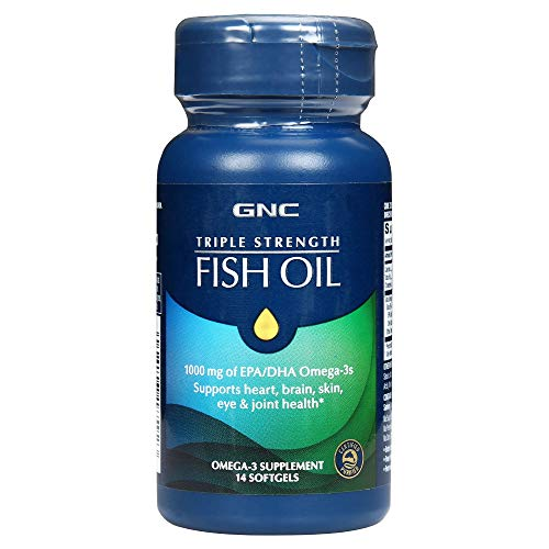 GNC Triple Strength Fish Oil - Omega 3 supplement (14 Softgels)