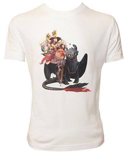 Camiseta para Niño con Diseño de la Familia de DreamWorks Cómo Entrenar a tu Dragón, Blanco - 128/134