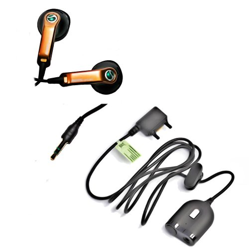 Original Sony Ericsson Handy Stereo Headset - HPM-64D - HPM-64 Dual - mit Dual Adapter für 2 Kopfhörer- Anrufannahme und Mikrofon - Farbe Orange - (Bulkverpackung) Ericsson Handy Adapter