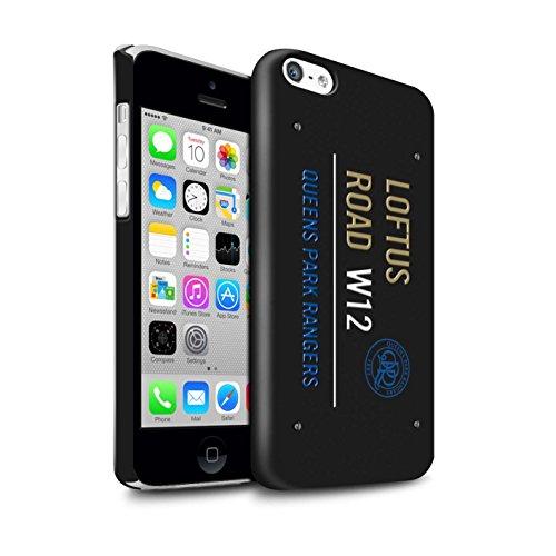 Officiel Queens Park Rangers FC Coque / Clipser Brillant Etui pour Apple iPhone 5C / Pack 8pcs Design / QPR Loftus Road Signe Collection Noir/Or