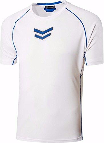 jeansian Herren Sportswear Quick Dry Short Sleeve T-Shirt LSL3225 LSL215_White