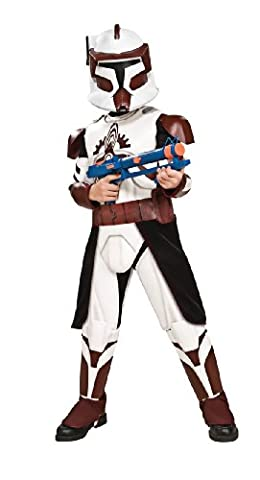 Rubie's Costume Co Star Wars Clone Wars Clone Trooper Child's Deluxe Commander Fox Costume, Small