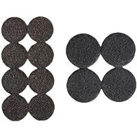 Kit Protectores almohadillas de fieltro redondos, aprox. 2,5 cm (16 unidades) y Ø aprox. 3,8 cm (4 unidades) autoadhesivos, marrón; protección para patas de muebles, sillas o mesas - Made in Canadá