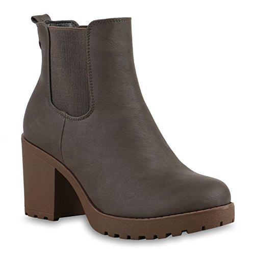Stivali Paradise Ladies Stivaletti Chelsea Boots Flandell Taupe Color Kaki