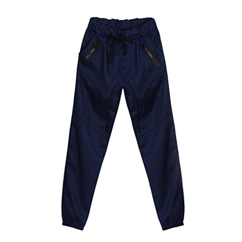 Malloom® Männer Sweatpants Slacks Lässige Elastische Armee Solid Baggy Taschen Reißverschluss ()
