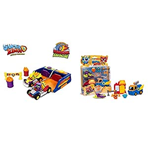 SUPERZINGS Kaboom Race Adventure 2, con 2 vehículos y 2 exclusivas Figuras Rivals of Kaboom: Bakery Mission (Magic Box INT Toys SZS0401)
