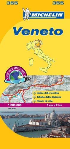 Veneto Michelin Local Map 355 (Michelin Regional Maps) por Michelin