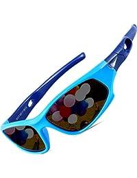 ATTCL Kinder Sonnenbrille TR90 Polarisierte Sportbrille für Jungen und Mädchen Alter 3-10