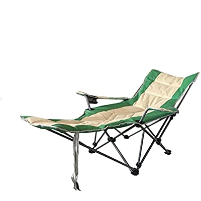 WAOBE Outdoor Folding Chair Recliner Portable Backrest Chair Beach Chair Fishing Chair Siesta Bed Chair, A by WAOBE