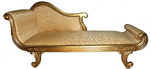 Casa Padrino baroque chaise longue, model XXL Gold Pattern / Gold