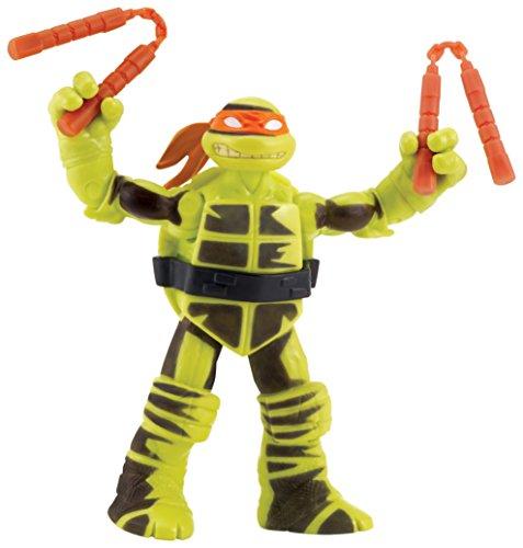 TMNT-Tua42500-Farbwechsel-Michelangelo-Figur mit beweglichen Gelenken und Zubehör-12cm (Tmnt Michelangelo Action Figur)