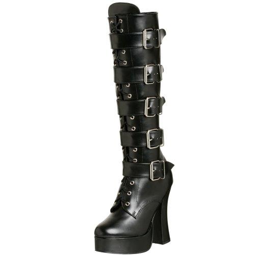 Pleaser Electra-2042, Stivaletti Donna, Nero (Schwarz Blk Faux Leather), 44 EU