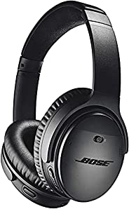 Bose QuietComfort 35 II Noise-Cancelling Wireless Bluetooth Headphones with Mic with Superior voice pickup- Bl